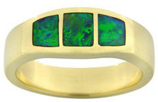 Australian Opal Inlay Rings