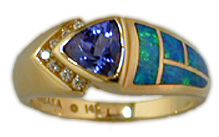 Australian Opal and Tanzanite Jewelry